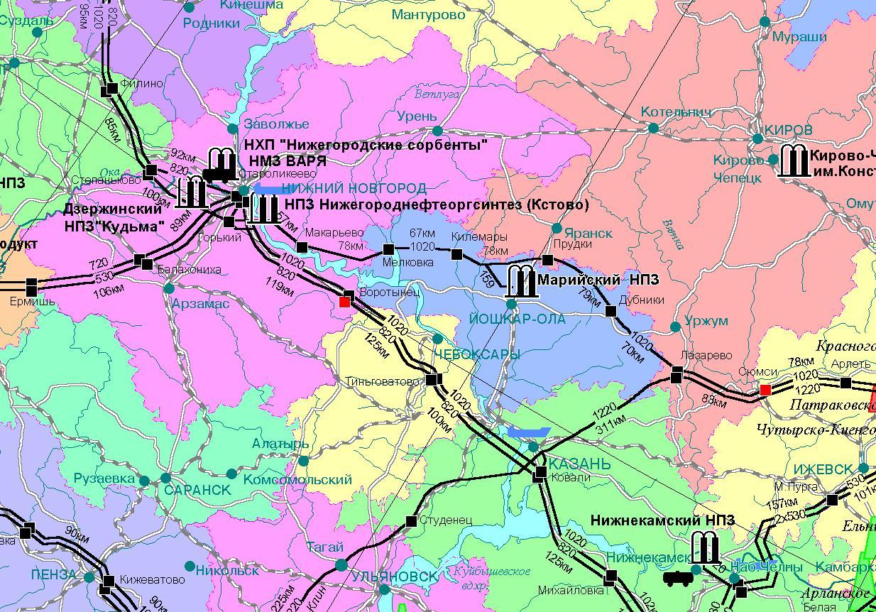 магистральные нефтепроводы и нефтепродуктопроводы